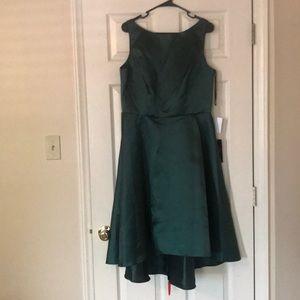 Nordstrom's alfred sung hunter green dress